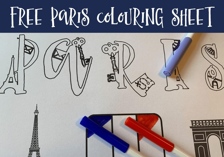 Free Paris Colouring Sheet