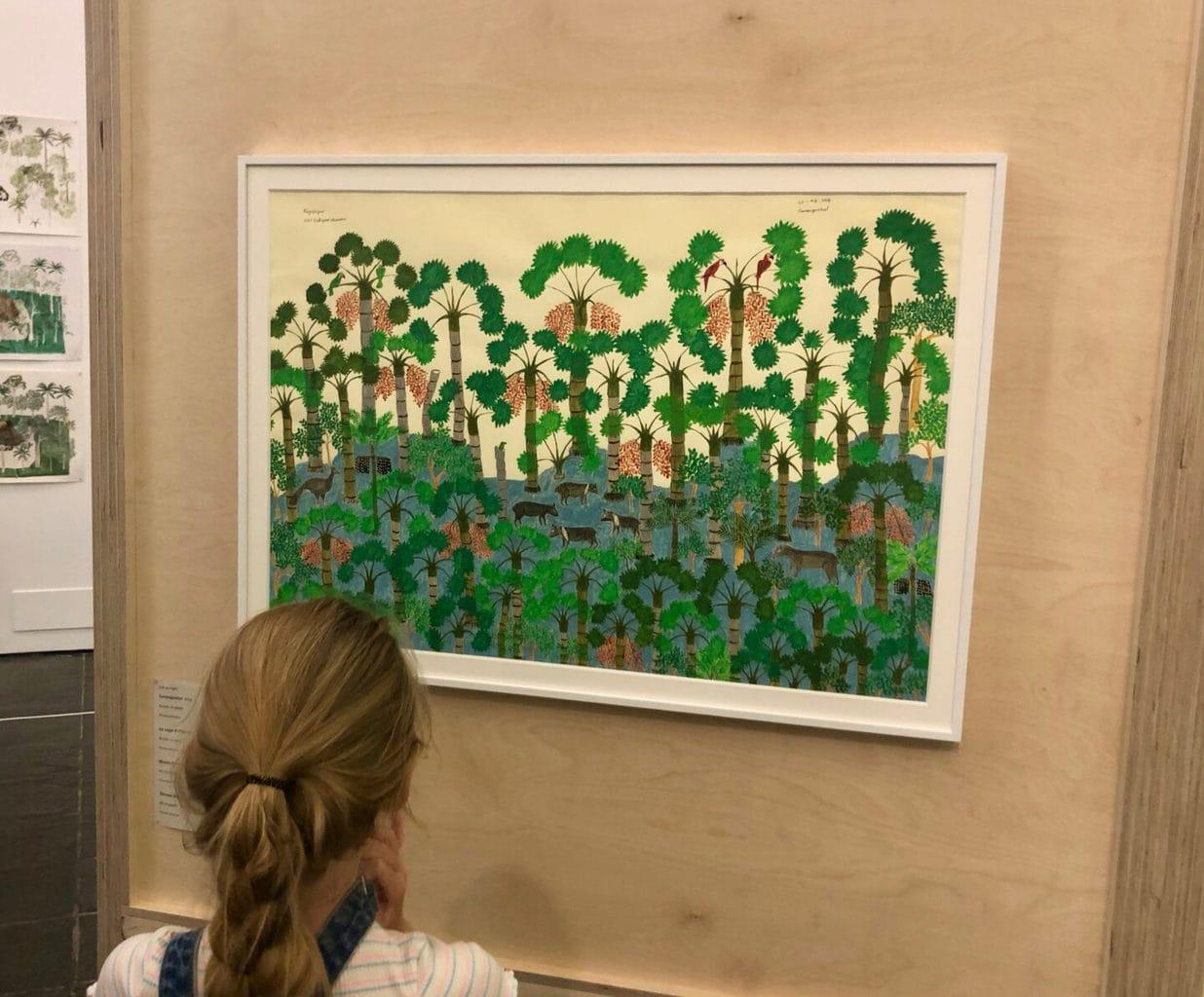 Little Miss enjoying the Abel Rodriguez exhibition