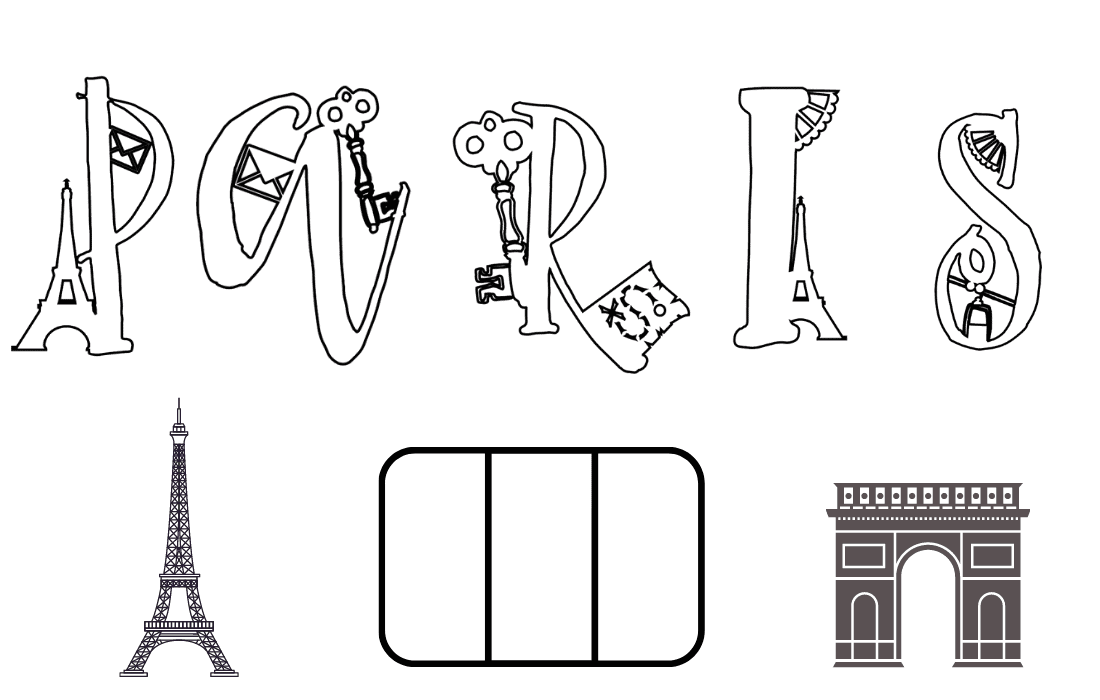 Free Paris Colouring Sheet