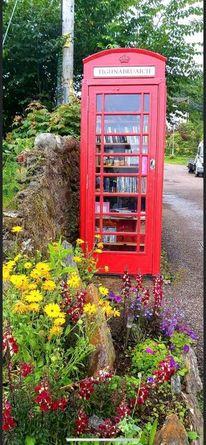 Tighnabruaich Phone Box Library (West Coast of Scotland)